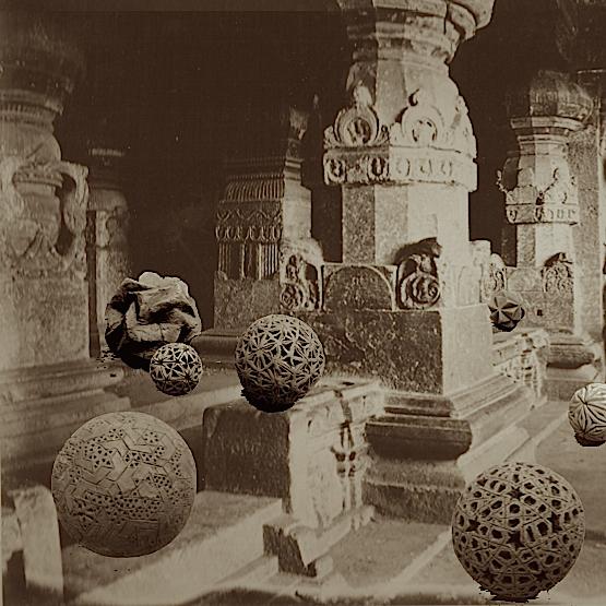 Sphères polyédriques à Ellora